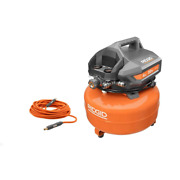 6 Gal. Portable Electric Pancake Air Compressor With 1/4 In. 50 Ft. Lay Flat Air