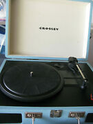 Crosley Record Player - Blue Palys 45's And Albumsblue