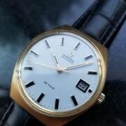 Mens Omega Gold Capped Deville 1970s 35mm Automatic Vintage Watch With Date Al16