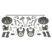1937-1948 Ford Axle Cross Steering And Brake Kit Chrome