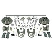 1937-1948 Ford Axle Traditional Steering And Brake Kit Chrome