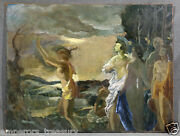 Mythological Apollo And Athena Oil Painting Attr. To Anders D. Johansen Danish
