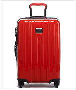 Nwt Tumi V3 International Expandable Carry On Suitcase Polycarbonate Sunset Red
