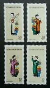 Vietnam Musical Instruments 1961 Traditional Costumes Music Cloth Stamp Mnh