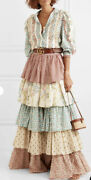 Ivory Tiered Cotton Maxi Skirt - With Tags- Rrp5200 Aud