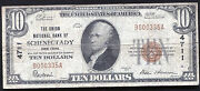 1929 10 The Union Nb Of Schenectady Ny National Currency Ch. 4711