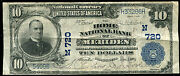 1902 10 The Home National Bank Of Meriden Ct National Currency Ch. 720
