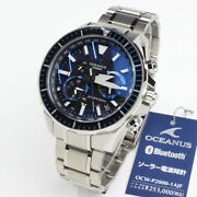 Casio Oceanus Ocw-p2000-1ajf New Iso200m Bluetooth Free Shipping From Japan