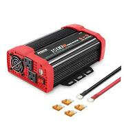 Car Power Inverter 12v Dc To 110v Ac Car Converter Charger Adapter With 1500w