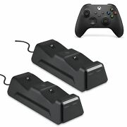 Dual Controller Charging Station Dock For Xbox Series X/s, One, One X/s Charger