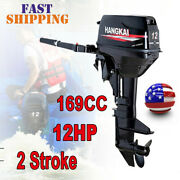 Hangkai 12hp 2 Strokeoutboard Motor Marine Engine Heavy Duty Water-cooling Sys.