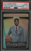 2017 Panini Prizm Luck Of The Lottery Donovan Mitchell Rookie Silver Psa 10