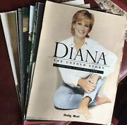 Princess Diana The Untold Story Magazine Set Of 12 Complete Series Uk