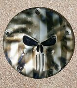 3d Skull Firefighter Derby Cover And Points Harley Twin Cam Softail Dyna