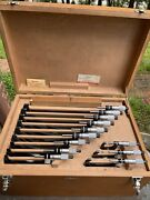 Excellent Set Of 12 Starrett 436m Metric Outside Micrometers 0-300mm Standards