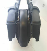 4 Harley Davidson Stretched Saddlebags Fender Replacement Dual Cutout 6.5 Lids