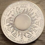 1970and039s Leo The Lion Zodiac Coin .925 Sterling Silver 25 Grams