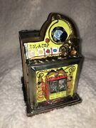 Bailey Design Collection Ceramic Slot Machine Coin Bank - Signed 2001