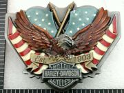 Rare 1996 Harley Davidson Bar And Shield Up Wing Screaming Eagle Flags Belt Buckle