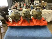 Chevrolet Tripower 348 Manifold And Carbs G-30-58