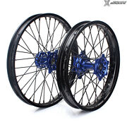 2014-2021 Yz250f Yz450f 21+19 Complete Spoked Wheel Set For Yamaha Yzf 250 450