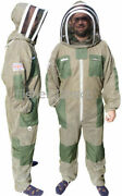 Three Layer Ultra Ventilated Green Beekeeping Suit Professional Bee Suit