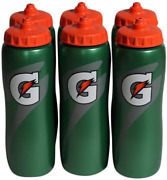Gatorade 32 Oz Squeeze Water Sports Bottle - Value Pack Of 6 - New Easy Grip Des