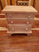 Handmade 3-drawer Wooden Jewelry Box, Unfinished And Ready To Paint/stain