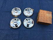Vintage Nos Set Of 1954 Chevrolet Dog Dish Hubcaps