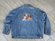Vintage Disney Jean Jacket Lady And The Tramp Denim 4xl Blue Mickey Mouse