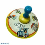 Ohio Art Spinning Toy Top Metal Circus Train Animals 304b177 Made In Usa