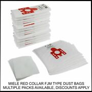 Fits Miele Cat And Dog Compact C1 C2 C3 Red Collar Fjm Type Vacuum Cleaner Bags