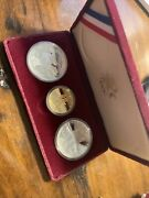 1983-1984 Olympic 3-coin Set 10 Dollar Gold-1/2 Oz 2-silver Dollars 1 Oz Comm