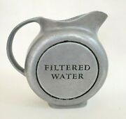 Vintage Wilton Armetale Pewter Round Ball Filtered Water Pitcher 2 Quarts
