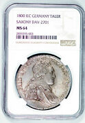 Germany State Saxony 1800 Iec Taler Coin Ngc Ms64 Thaler Deutsch Unc