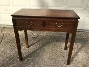 Vintage Wellington Hall Entry Holl Lacquer Console Table