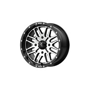 24 Inch 4x5.39 4 Wheels Rims 24x7 +10mm Black Machined Msa Offroad Wheels M38