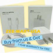 Original Fast Charger 20w Usb-c Power Adapter Cable Fr Iphone 11/12 Pro Max/ipad