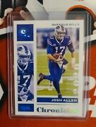 2020 Josh Allen Panini Chronicles One Of One 1/1 Very Clean Card