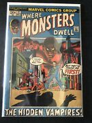 Marvel Horror 10 Comic Lot Where Monsters Dwell Tomb Of Darkness Vault Of Evil