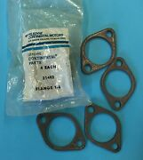 4 New Old Stock Continental 65 85 90 O200 Exhaust Flanges Pn 21492