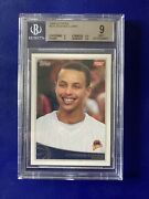 2009-10 Topps Stephen Curry Rc 321 Bgs 9 Mint Golden State Warriors Rookie 🔥