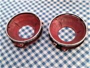 Dodge A-100 A108 Head Light Buckets And Retaining Rings 1964 65 66 67 68 69 1970
