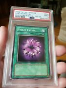 Yugioh Violet Crystal Lob-042 1st Ed. New Psa 9 Mint Condition Extremely Rare