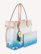 Louis Vuitton By The Pool Neverfull Mm Giant Logo Blue Tote Handle Shoulder Bag