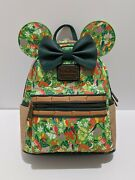 Disney Minnie Mouse Main Attraction Enchanted Tiki Room Loungefly Backpack Nwt
