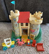 Vintage Fisher Price Little People Play Family Castle 993 And Accessories
