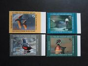 2017-20 Junior Us Duck Stamps - Cat Jds25-jds28 Four Single Stamps Mnh Og