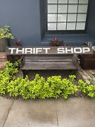 Vintage Thrift Shop/store Old Wood Sign 8 Feet Long One Of A Kind