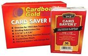 Card Saver 1 Cardboard Gold 200 Count New Sealed In Box For Psa Bgs Grading